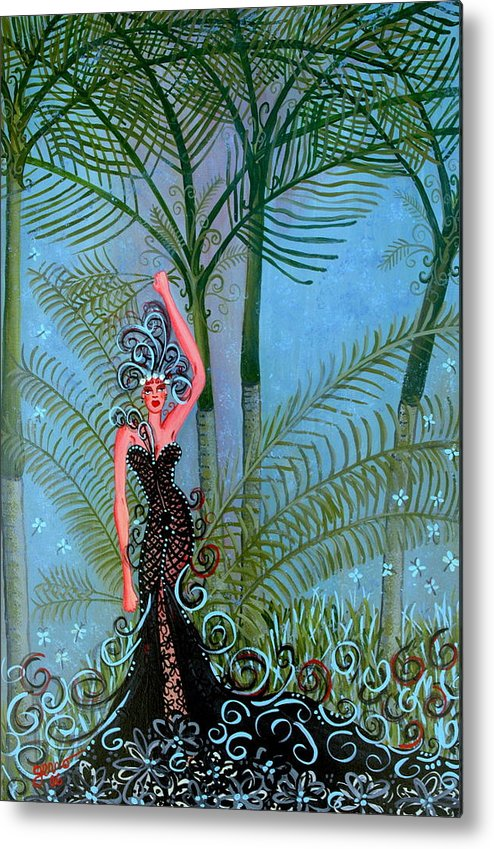 Couture Artwork Metal Print featuring the painting Bayou Couture by Helen Gerro