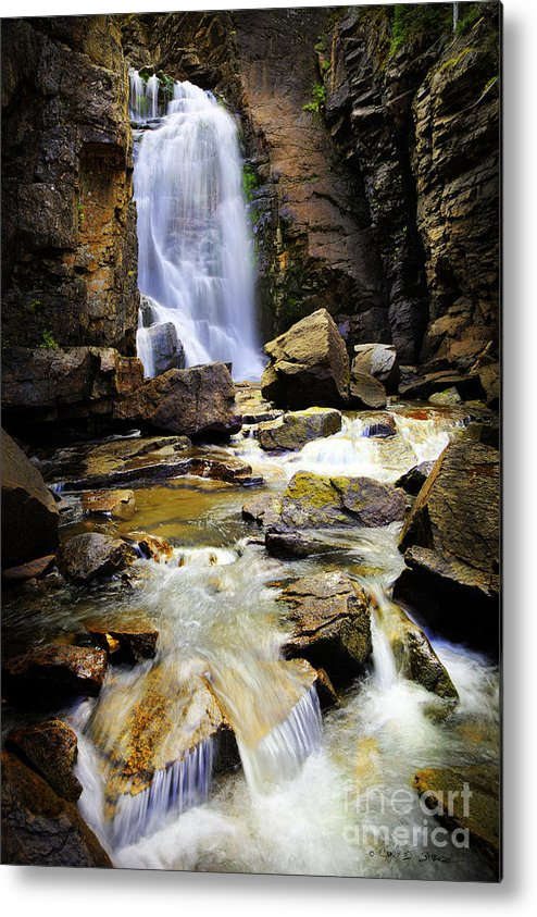 Landscape Metal Print featuring the photograph Beartooth Falls by Craig J Satterlee