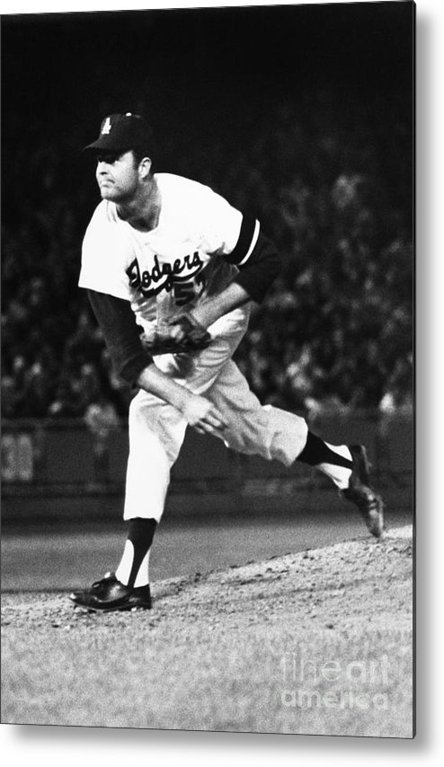 1968 Metal Print featuring the photograph Don Drysdale (1936-1993) by Granger