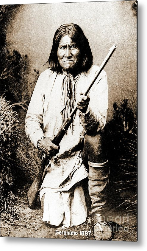 Native Metal Print featuring the photograph Geronimo by Gary Wonning