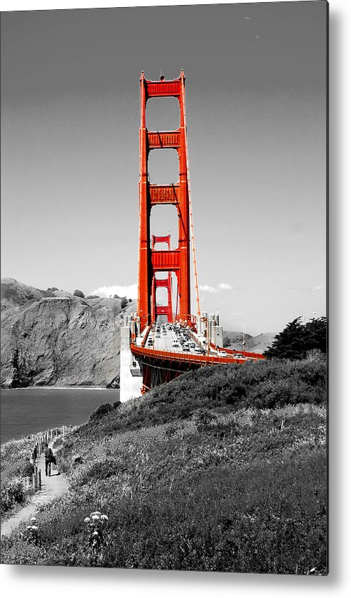 City Metal Print featuring the photograph Golden Gate by Greg Fortier