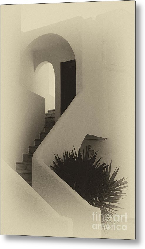 Architecture Metal Print featuring the photograph Greek Architecture Mykonos 2 by Bob Christopher