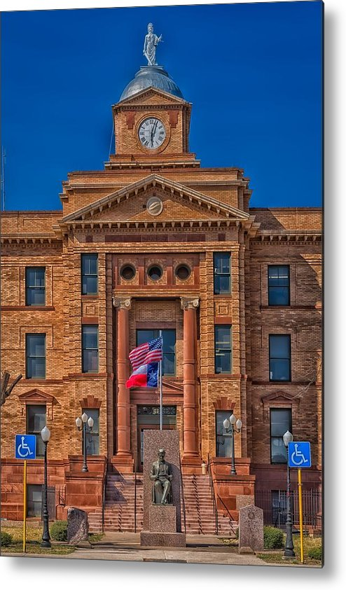 Jones County Metal Print featuring the photograph Jones County Courthouse by Mountain Dreams