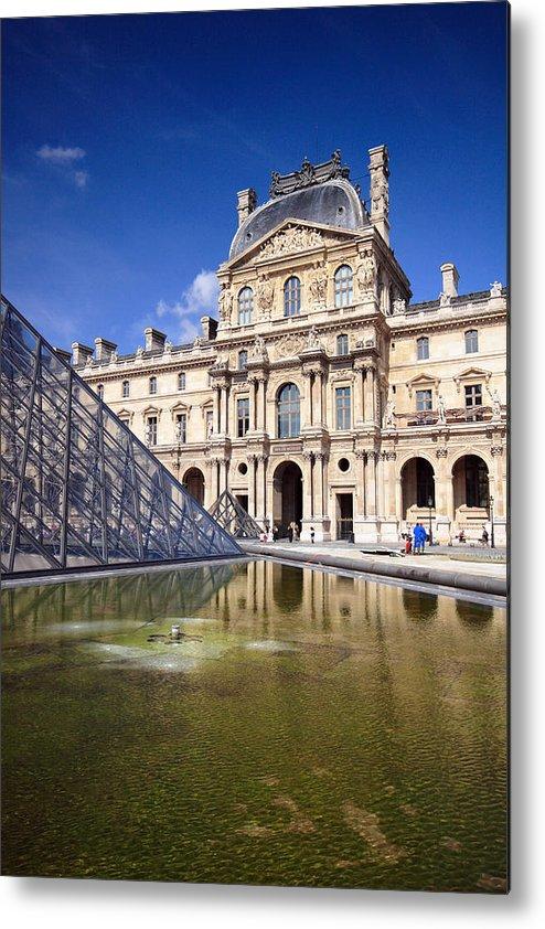 Louvre Metal Print featuring the photograph Louvre Museum Architecture Paris by Pierre Leclerc Photography