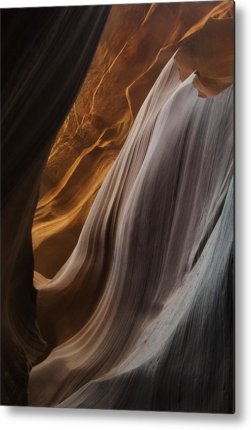 Slot Metal Print featuring the photograph Lower Antelope Canyon 2199 by Bob Neiman