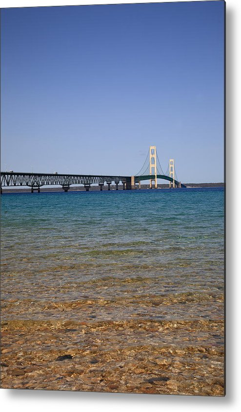 America Metal Print featuring the photograph Mackinac Bridge by Frank Romeo