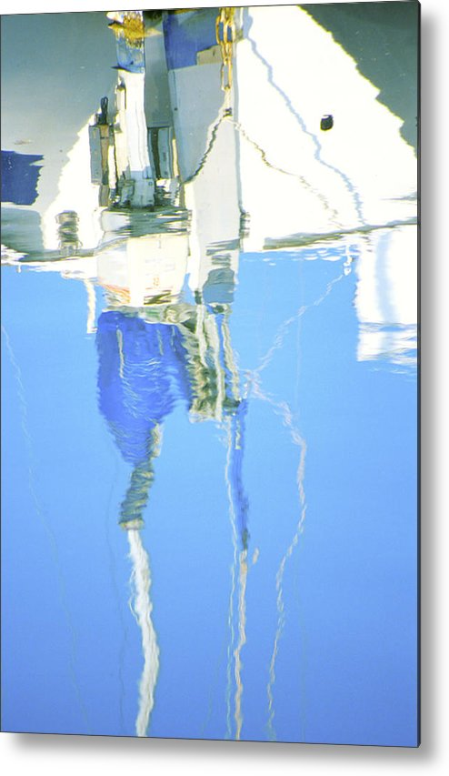 Abstract Landscape Metal Print featuring the photograph Naxos by Mary Mansey