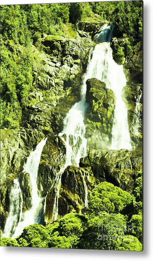 Water Metal Print featuring the photograph Rocky Mountain Waterfall by Jorgo Photography - Wall Art Gallery