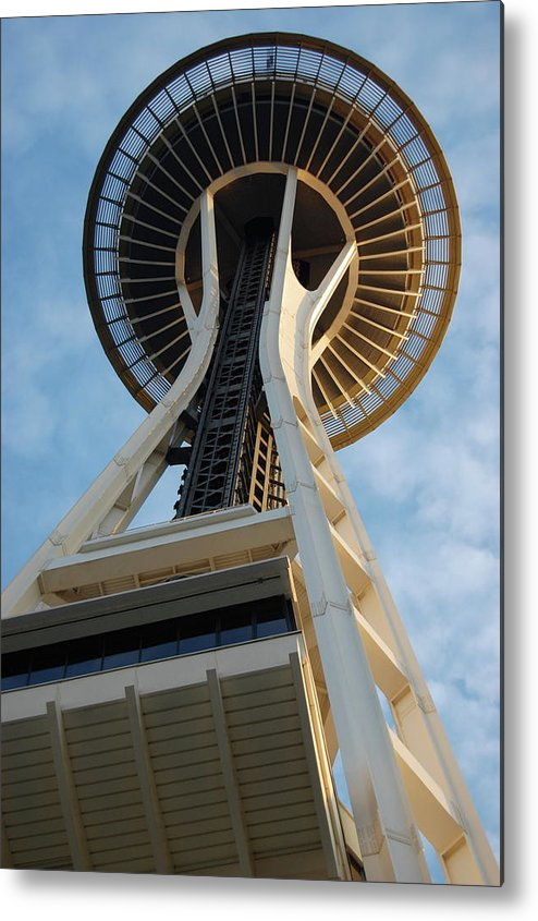 Space Needle Metal Print featuring the photograph Space Needle by Samantha Kimble