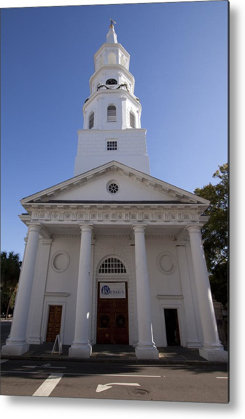 St Michaels Church Metal Print featuring the photograph St Michaels Church Charleston Sc by Dustin K Ryan