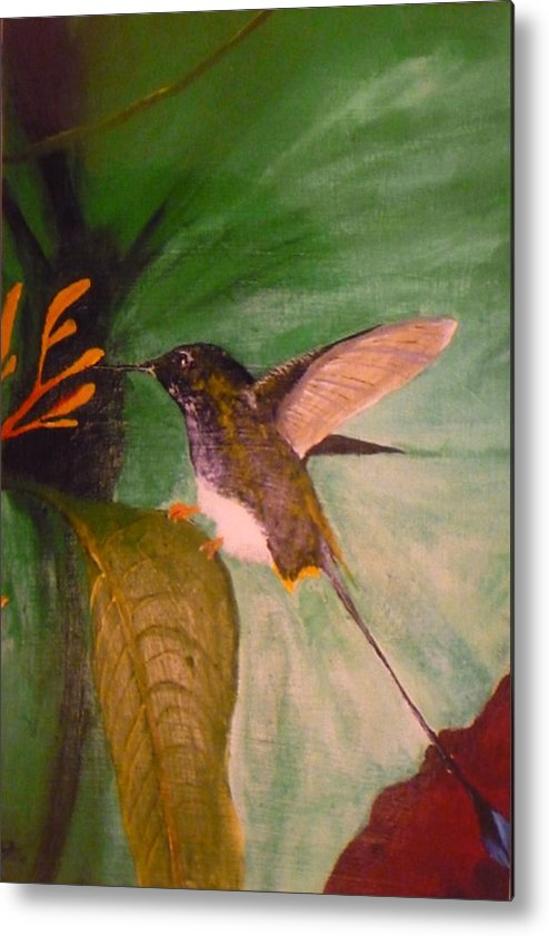 Nature Metal Print featuring the painting Untitled by Christian Hidalgo