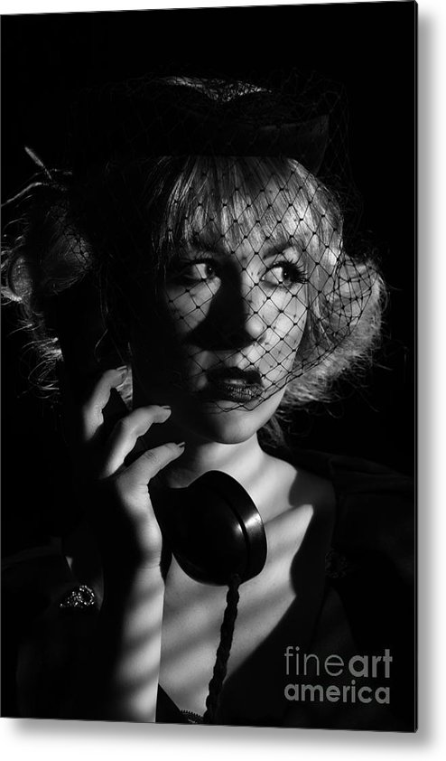 Hollywood Metal Print featuring the photograph Film Noir by Amanda Elwell