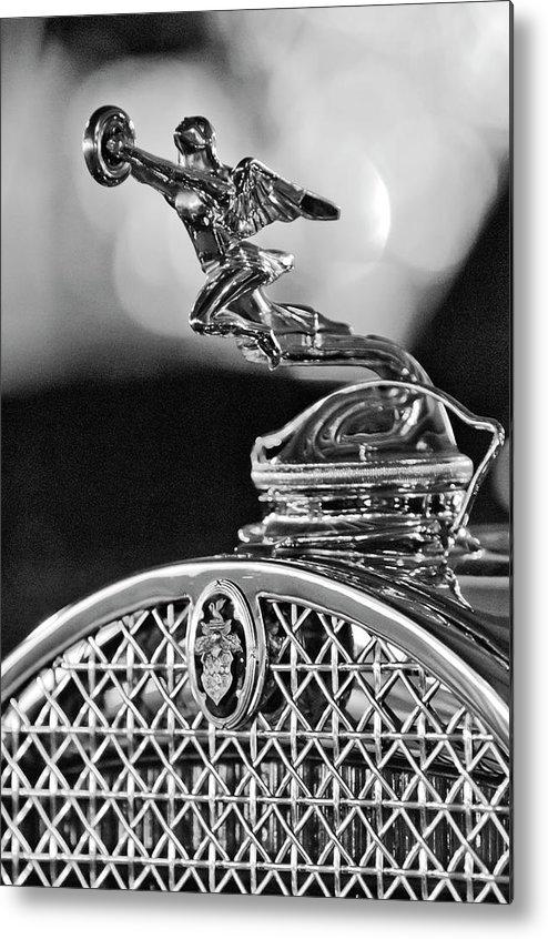 1931 Packard Convertible Victoria Metal Print featuring the photograph 1931 Packard Convertible Victoria Hood Ornament 2 by Jill Reger