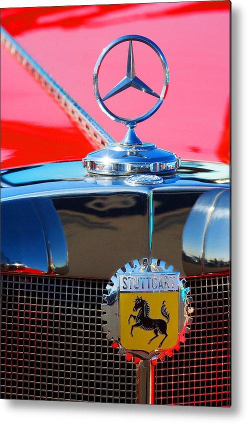 Transportation Metal Print featuring the photograph 1934 Mercedes Benz 500 K Roadster by Jill Reger