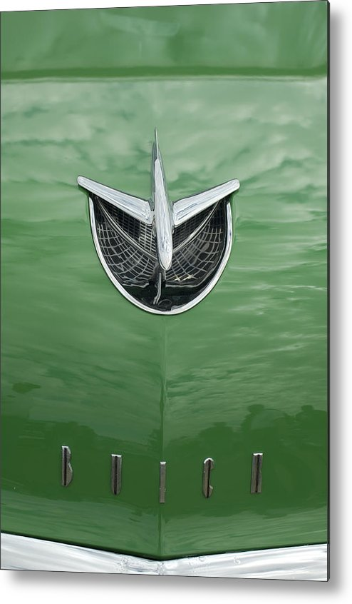 1956 Buick Riviera Metal Print featuring the photograph 1956 Buick Hood Ornament by Jill Reger