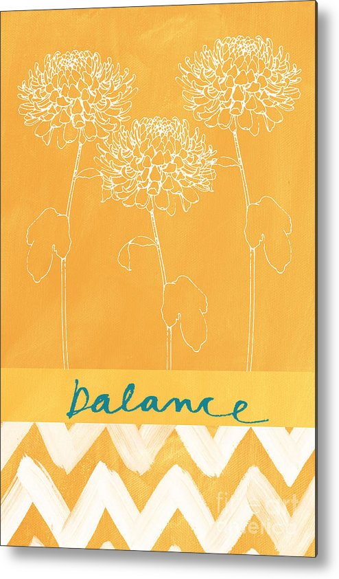 Balance Metal Print featuring the painting Balance by Linda Woods