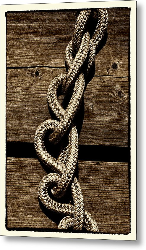 Deck Metal Print featuring the photograph Love Knots by David Patterson
