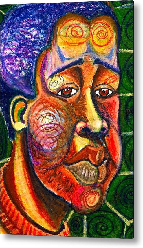 Maliksart Metal Print featuring the painting Faces Unseen Series by Malik Seneferu