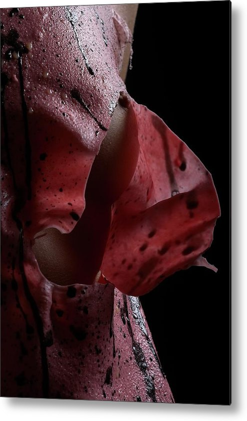 Nude Metal Print featuring the photograph Liquid Latex by Pavel Jelinek