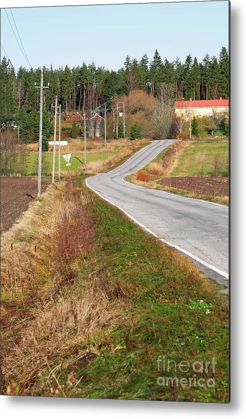 Village Metal Print featuring the photograph Road by Esko Lindell