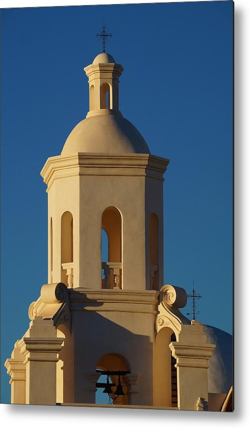 Architecture Metal Print featuring the photograph San Xavier Del Bac by Dennis Boyd