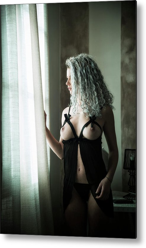 Adult Metal Print featuring the photograph Tu M'as Promis by Traven Milovich