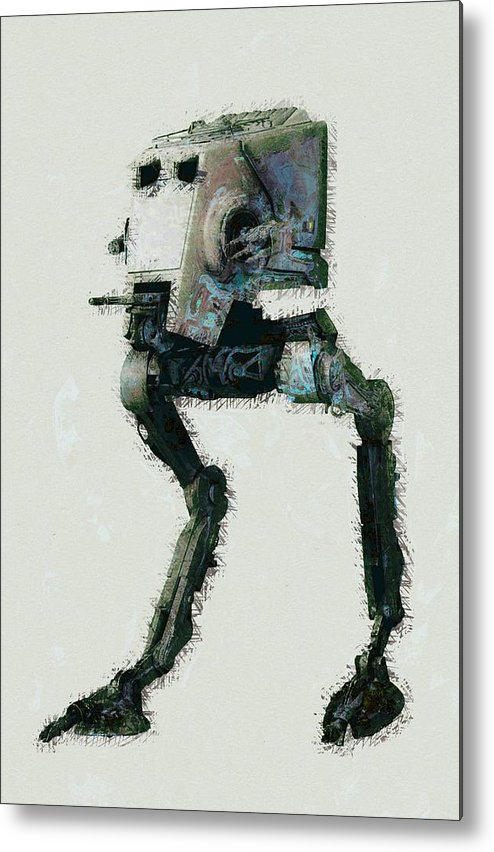 Star Wars Metal Print featuring the digital art Star Wars by Elena Kosvincheva