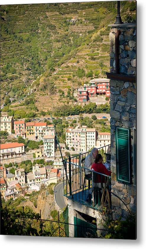 Italy Metal Print featuring the photograph A Meal With A View by Carl Jackson