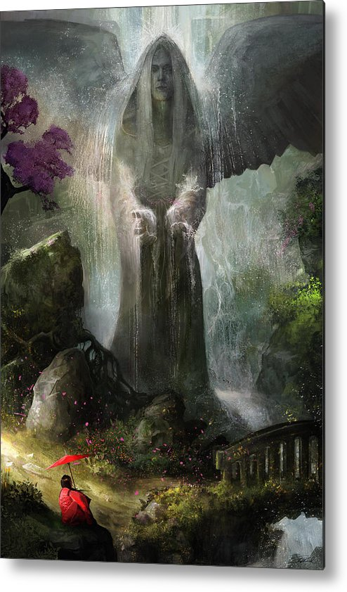 Angel Metal Print featuring the painting A Place To Ponder by Steve Goad