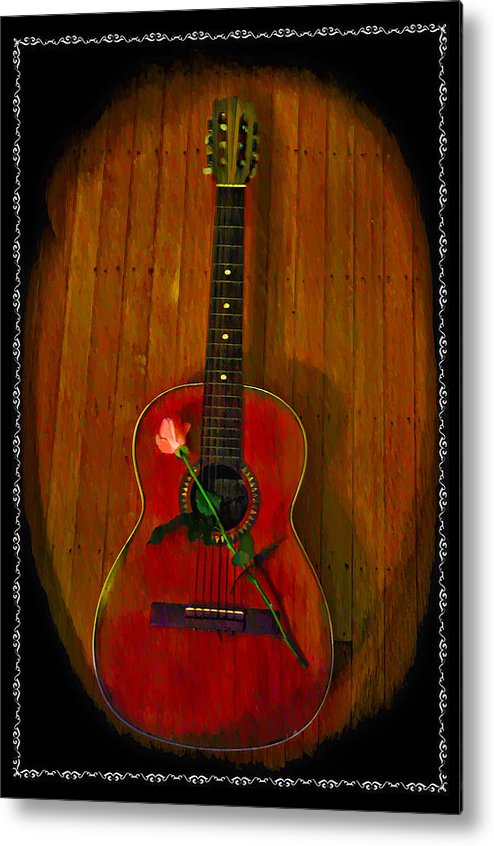 Guitar Metal Print featuring the photograph A Song For My Love by Bill Cannon