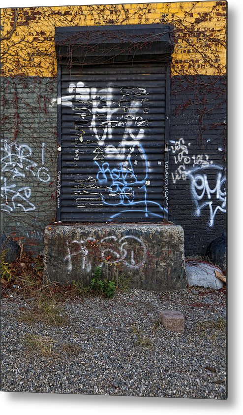 Graffiti Metal Print featuring the photograph Ababdoned Doorway Wiiliamsburg Brooklyn by Robert Ullmann