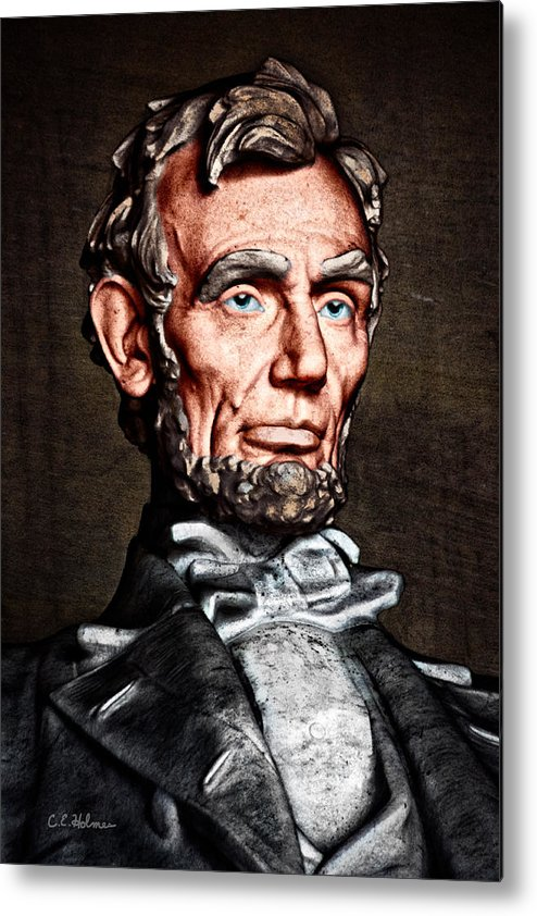 Abraham Lincoln Metal Print featuring the photograph Abraham Lincoln by Christopher Holmes
