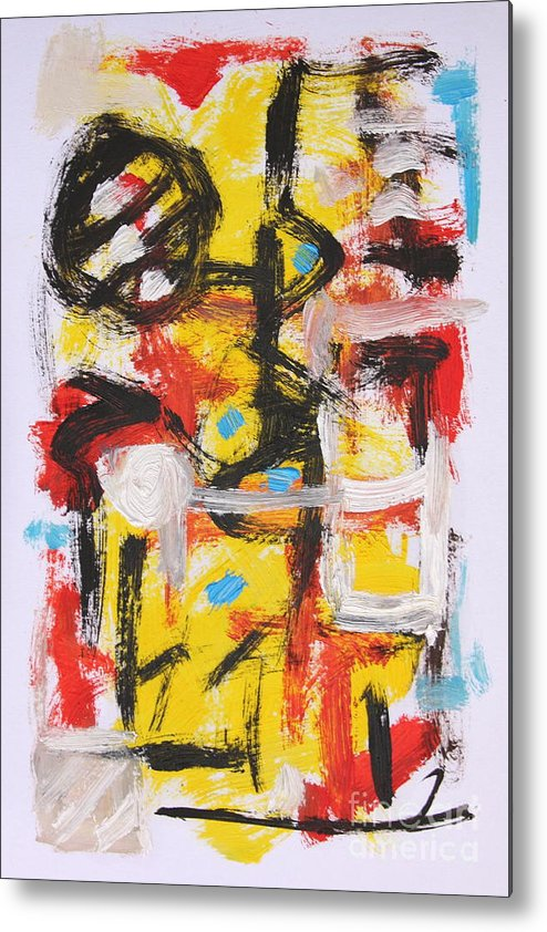 Abstract Metal Print featuring the painting Abstract 6835 by Michael Henderson