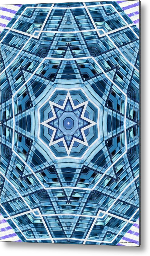 Abstract Metal Print featuring the digital art Abstract Blue 22 by David Wagner