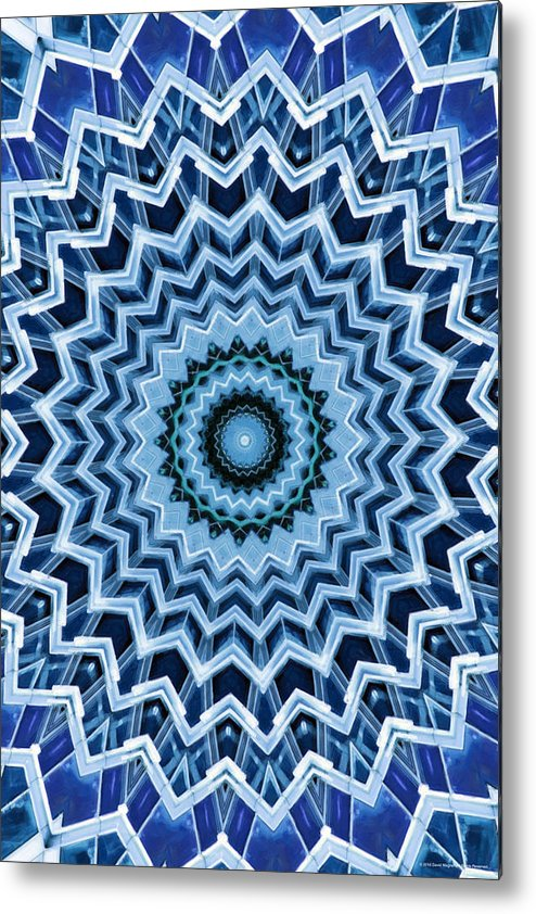 Abstract Metal Print featuring the digital art Abstract Blue 25 by David Wagner