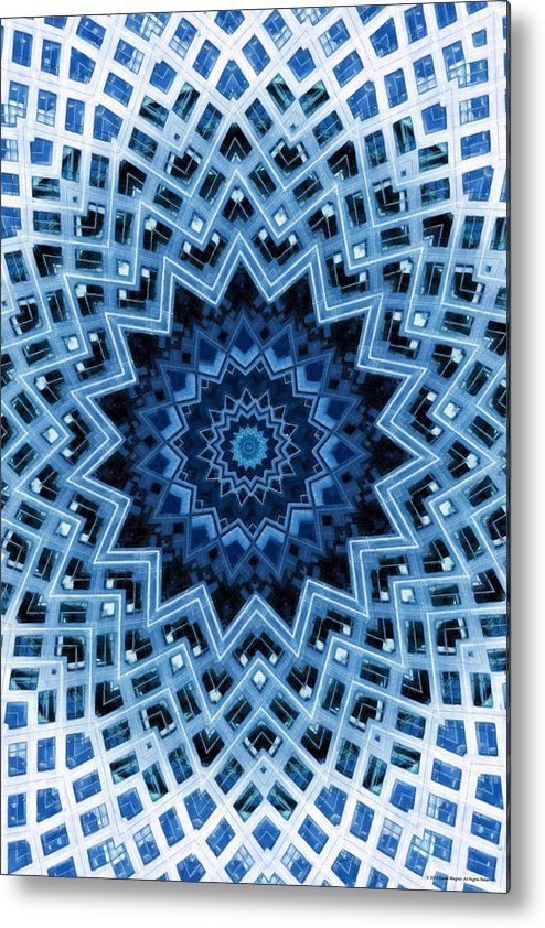 Abstract Metal Print featuring the digital art Abstract Blue 30 by David Wagner