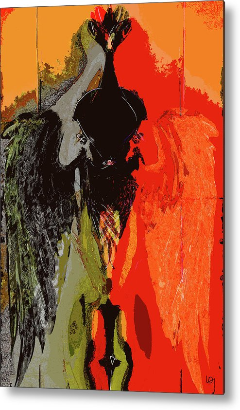Nude Metal Print featuring the digital art Abstract Dark Angel by Lawrence O'Toole