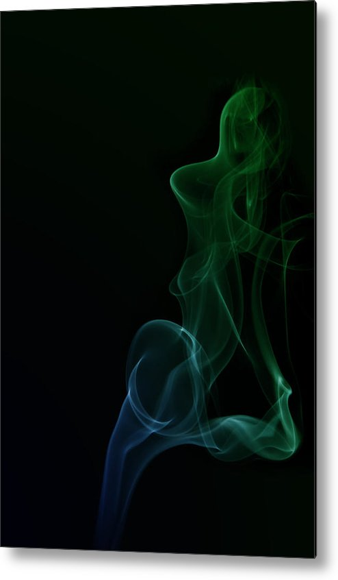 Abstract Smoke Metal Print featuring the photograph Abstract Smoke by Ilze Lucero