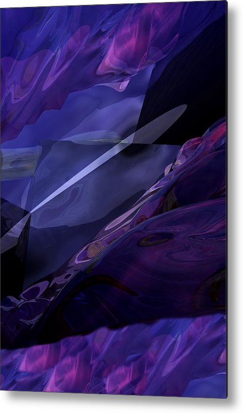 Abstract Metal Print featuring the digital art Abstractbr6-1 by David Lane