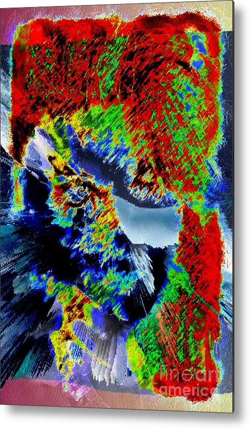 Abstral Visual She Metal Print featuring the painting Abstral Visual She by Catherine Lott