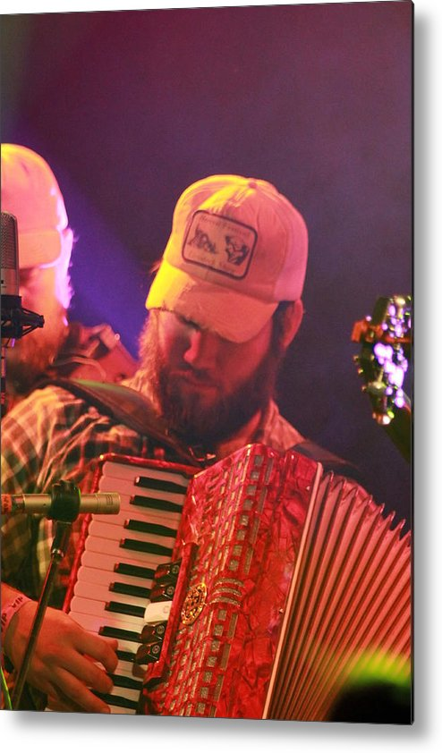 Accordion Metal Print featuring the photograph Accordion Player by Kevin Ealain