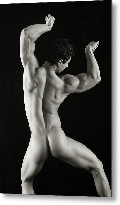 Male Nudes Metal Print featuring the photograph Alan 1 by Thomas Mitchell