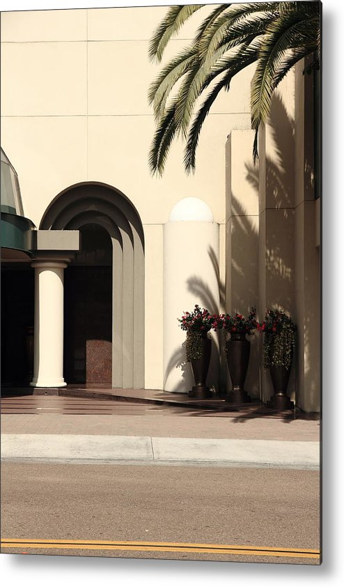 Palm Metal Print featuring the photograph All Facade by Kreddible Trout