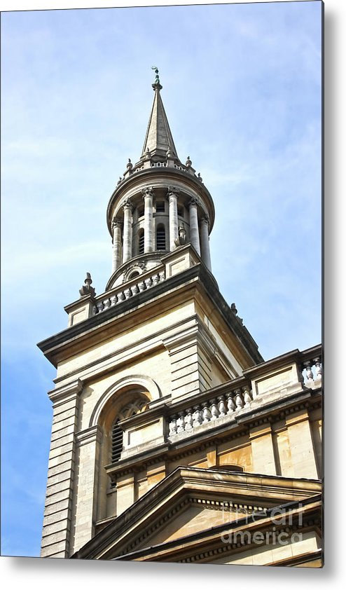 City Of Oxford Metal Print featuring the photograph All Saints Church Oxford High Street by Terri Waters