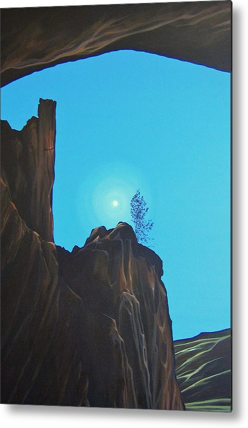 New Mexico Metal Print featuring the painting Anasazi Dreams by Hunter Jay