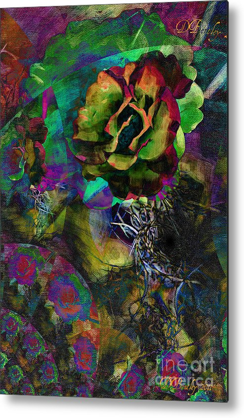 Abstract Art Metal Print featuring the photograph Antique Rose by Donna Bentley
