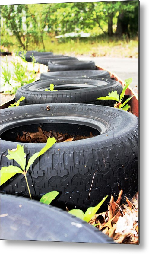 Tires Metal Print featuring the photograph Around The Track by Erin Rosenblum
