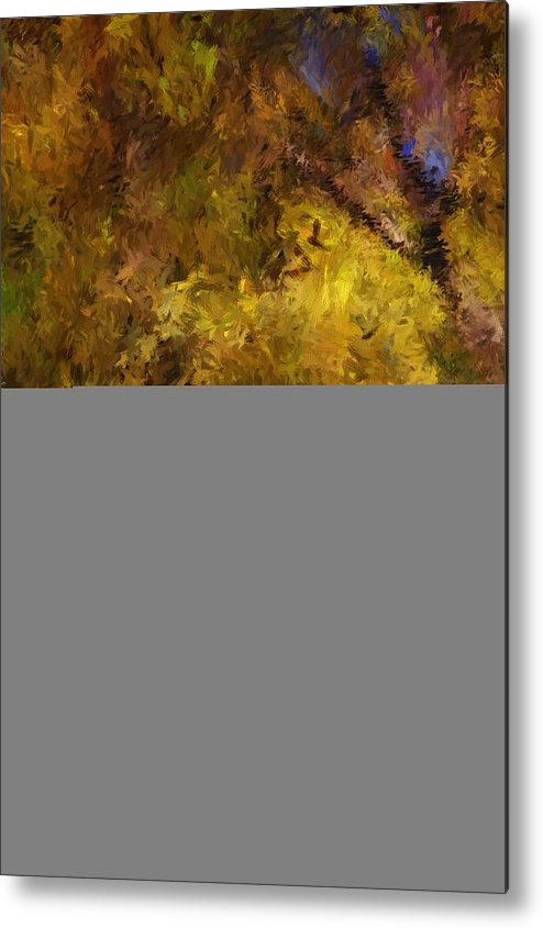 Abstract Digital Painting Metal Print featuring the digital art Autumn Abstract by David Lane