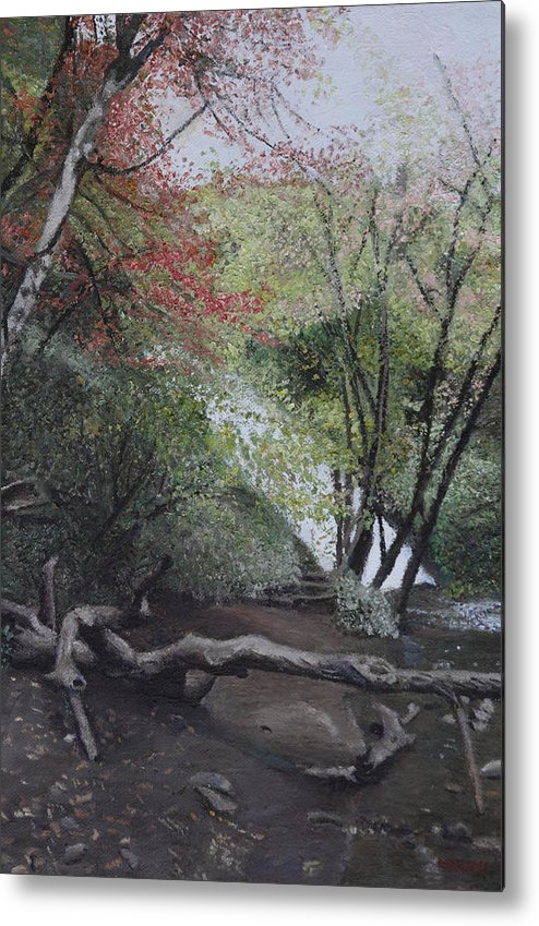 Japan Metal Print featuring the painting Autumn In Japan by Masami Iida