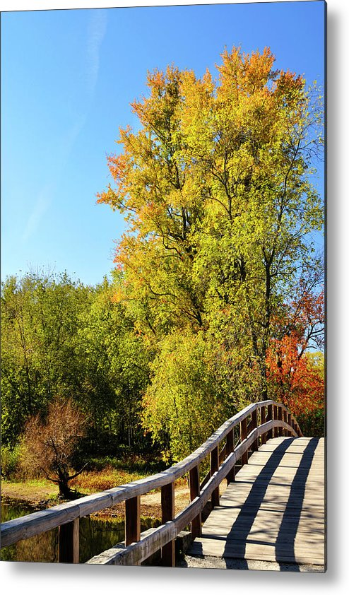 Autumn Metal Print featuring the photograph Autumnal North Bridge by Luke Moore